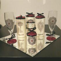 Ensemble bougies pour fiancailles/mariage «la clef d'amour»