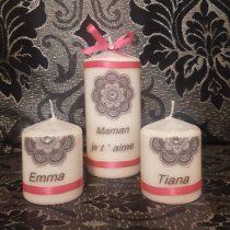 Bougies personnalisées  «Maman et enfants»