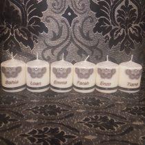 Bougies personnalisées baptème/baby shower