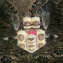 Ensemble bougies pour fiancailles/mariage